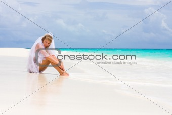 Bride on a tropical beach