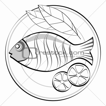 Fish on a plate.
