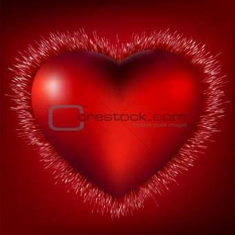 3D Heart Burst Background. EPS 8
