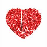 Heart with cardiogram. EPS 8