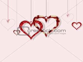 St Valentine day's greeting card