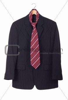 Men's suit on the rack