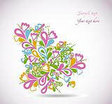 Floral colorful design illustration. Vector