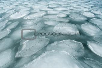 freezing ice