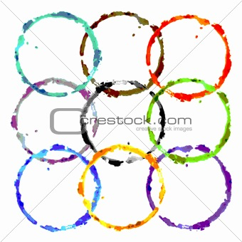 grunge colored rings