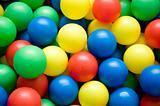 color balls close up