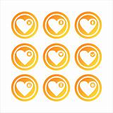 orange hearts signs