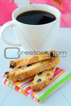 Italian cookie with coffee