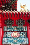 Chinese temple gate pattern.