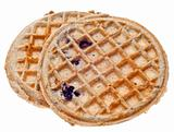 Pair of Frozen Blueberry Whole Grain Waffles