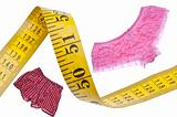 Male Female Diet Health Concept Measuring Tape