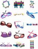Collage Montage of Sunglasses