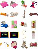 Collage Montage of American Money Items