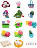 Collage Montage of Spring Easter Items