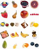 Collage Montage of Fruit