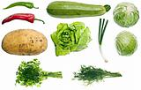 Collage of vegetables