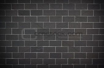 Gray and white cinder block