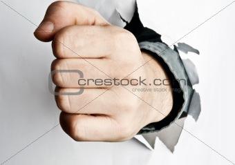 Fist broke paper