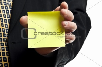 Business man with empty sticker
