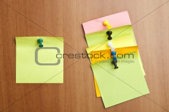 Six empty  post it