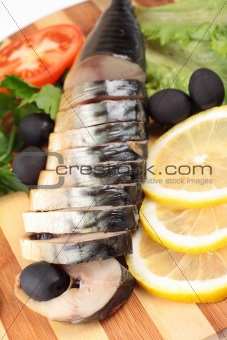 sliced herring with vegetables