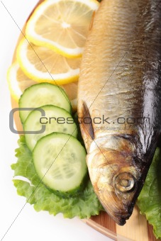 fish with lemon and vegetables