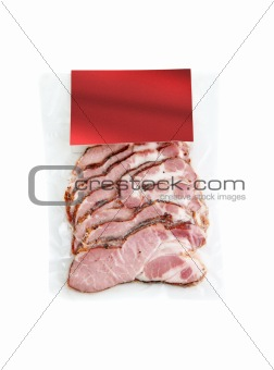 sliced meat packaged