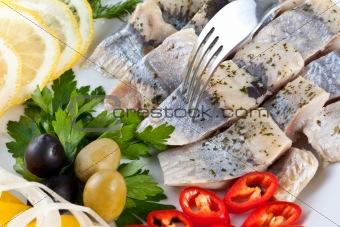 close up sliced fish
