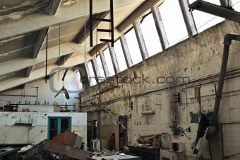 abandoned factory ruins