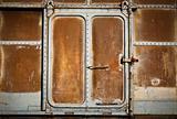 Door with old train