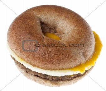 Sausage, Egg and Cheese Breakfast Bagel