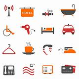 Hotel or accommodation icons