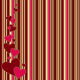 vintage striped background with hearts