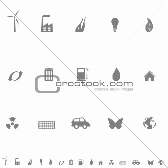 Environmental symbols icon set