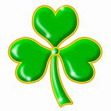 Shimmering Green Shamrock with Gold Trim