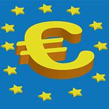 3d euro symbol