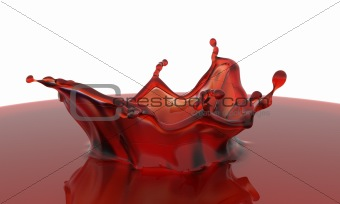 3D rendered red splash