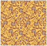 floral seamless pattern,  venetian colors