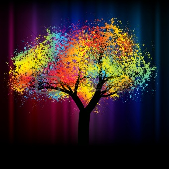 Abstract colorful tree. With copy space .EPS 8