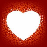 Love vector background made from red hearts. EPS 8