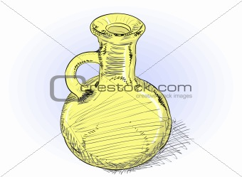 Carafe - vector rough illustration
