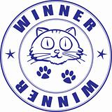 Round stamp on certificate - winner of pets competition