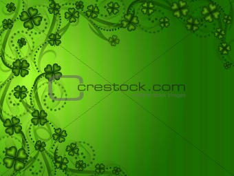 Lucky Shamrock Four Leaf Clover Background