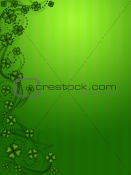 Lucky Shamrock Four Leaf Clover Vertical Background