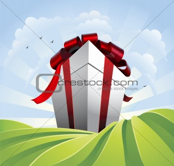 Giant gift in fields
