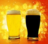 Gold and black beer