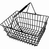 Wire shopping basket silhouette