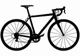 Cyclo-cross bike silhouette