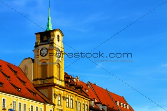 Bright photo of old building of Czech