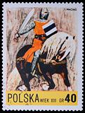 Poland - CIRCA 1967: A stamp - knight